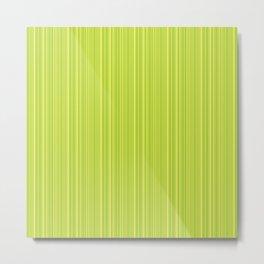 Lime Green Pinstripe Metal Print