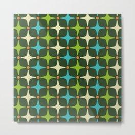 Mid Century Modern Star Pattern 581 Metal Print