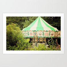 Zoo Carousel Art Print