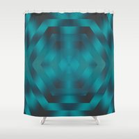 native Shower Curtains featuring Native by Erica Anderson