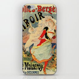 French belle epoque mime theatre advertising iPhone Skin