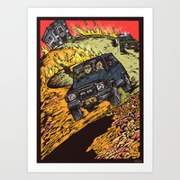goonies Art Prints featuring The Goonies by Carol Wellart