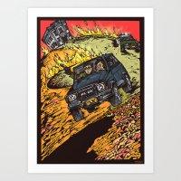 the goonies Art Prints featuring The Goonies by Carol Wellart