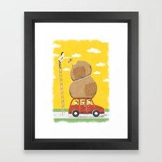 Road trip with teddy, or else Framed Art Print