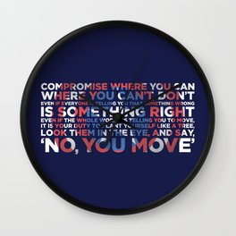 Civil War Quote Wall Clock