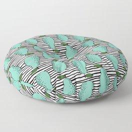 Pear stripes fruit pattern by andrea lauren pears home decor illustration food art Floor Pillow