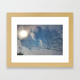 clouds and wire, abstract, no.04 Framed Art Print