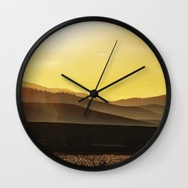 Study in Yellow Wall Clock