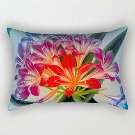 Colorful Flower Bulb Rectangular Pillow