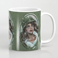 winter soldier Mugs featuring Winter Soldier by Soggykitten™