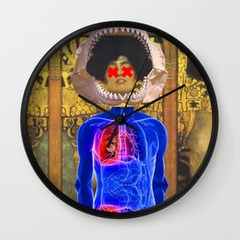 Klimt Pop Art Collage Wall Clock
