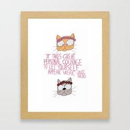 Infinite Cats Framed Art Print