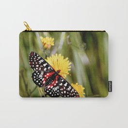 A Red Dotted Checkerspot Carry-All Pouch