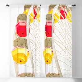 Travel photography Santa Monica XII Ferris wheel Blackout Curtain