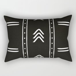 Minimalist mud cloth black Rectangular Pillow