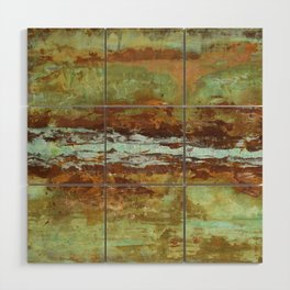 Blue Green Stream Wood Wall Art