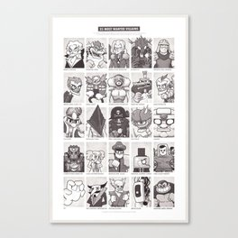 25 Most Wanted Villains! Canvas Print