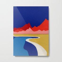 Red Hills Desert Pool Metal Print