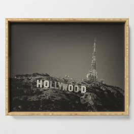 Vintage Hollywood sign Serving Tray