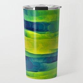 Acid Yellow and Indigo Abstract Travel Mug
