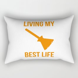 Living My Best Life Funny Witch Design Rectangular Pillow