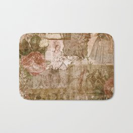 Vintage & Shabby Chic - Victorian ladies pattern Bath Mat