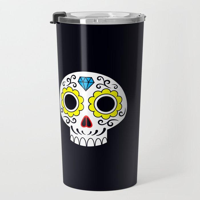 Sugar skull for a cake Travel Mug