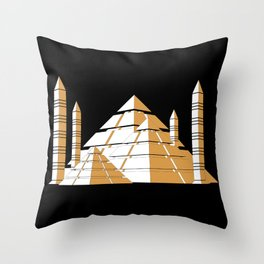 Pyramids Throw Pillow