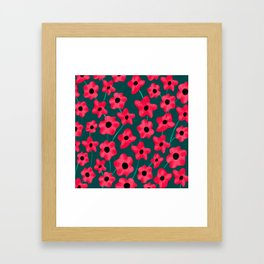 Poppies' field Framed Art Print