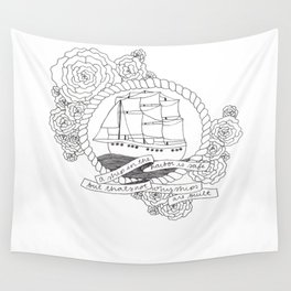 A Ship in the Harbor Wall Tapestry