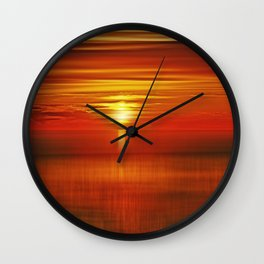 Irish Sea Sunset Wall Clock