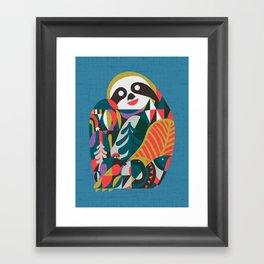 Nordic Sloth Framed Art Print