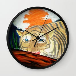 THE RESTING WHITE TIGER  Wall Clock