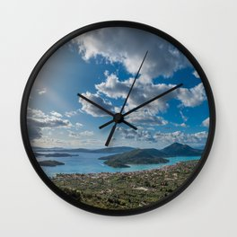 Nidri bay in Lefkas Wall Clock