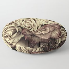 Brown Roses Floor Pillow