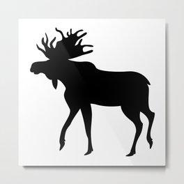 Bull moose Metal Print