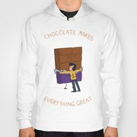 chocolate Hoodies featuring Chocolate! by Wackom