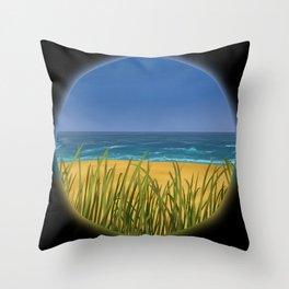 World Within Me - Beachside Throw Pillow