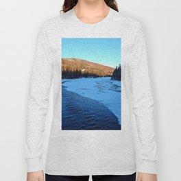 Frozen Mountain River Long Sleeve T-shirt