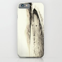 Minimal monochrome lakescape shore iPhone Case