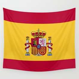 Spain flag emblem Wall Tapestry