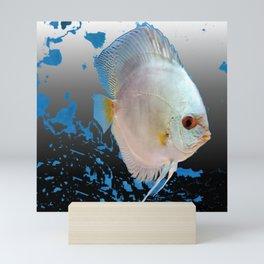 Silver Dollar Fish Modern Mini Art Print