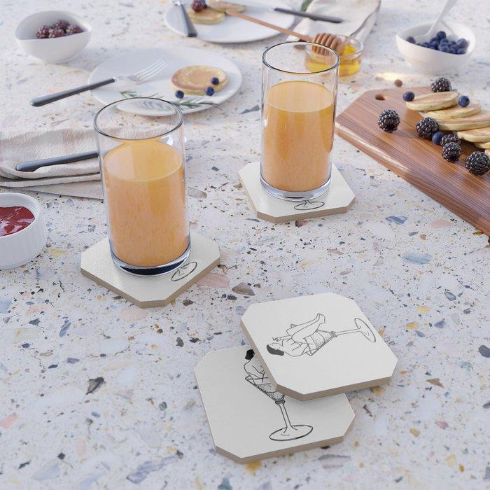 Cocktail, Art Quarterly No.4.1+Tattly Flipside Coaster