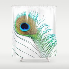 Peacock - Peacock Feather - Peacock Tail Feather Shower Curtain