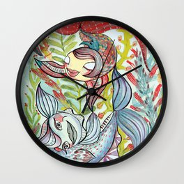 Dancing Fishes Wall Clock