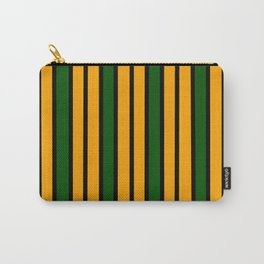 Green & Gold Stripes Carry-All Pouch