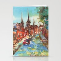 denmark Stationery Cards featuring Roskilde, Denmark by Yevgenia Watts