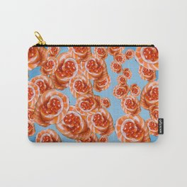 Salmon Rose Carry-All Pouch
