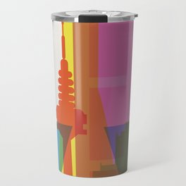 Shapes of Madrid. Accurate to scale. Travel Mug