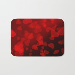 Abstract red black pattern . Love . Bath Mat